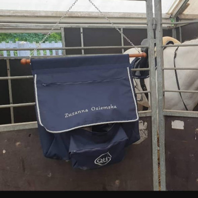 Bluza Queen Horse Zip z kapturem - Navy